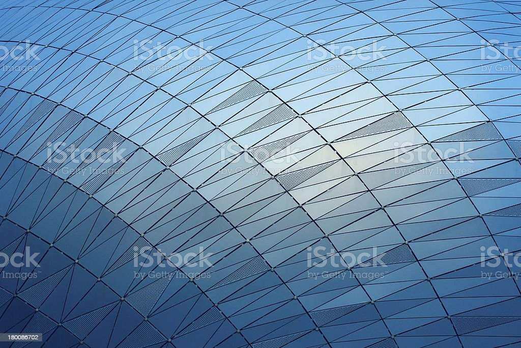 Glass screen wall stock photo