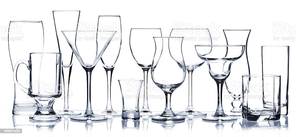 Glass series - All Cocktail Glasses royalty-free stock photo