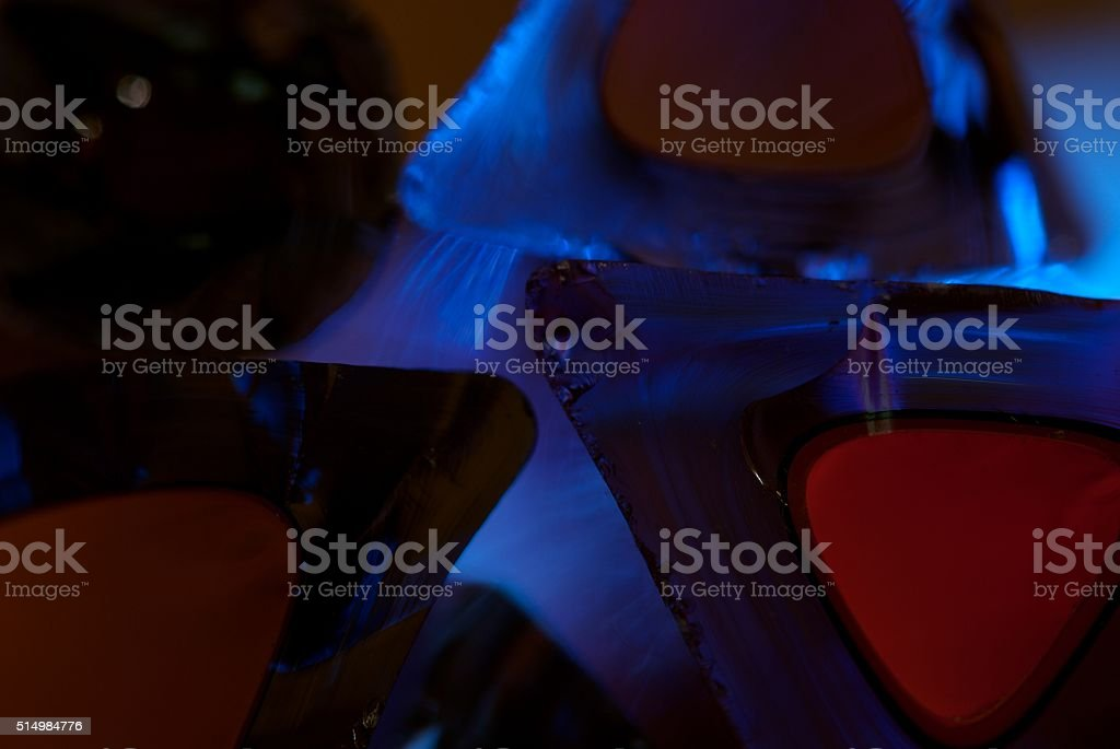 glass shards of many colors stock photo
