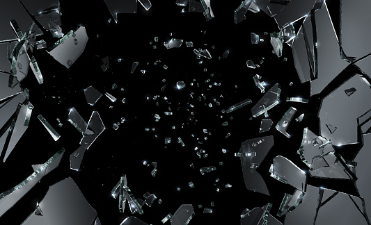 Glass Shattering Stock Photo - Download Image Now