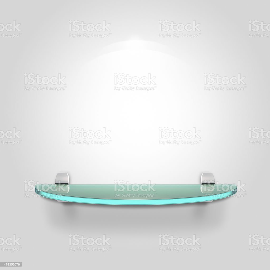Glass shelf stock photo