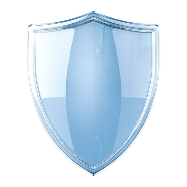 Glass Shield stock photo