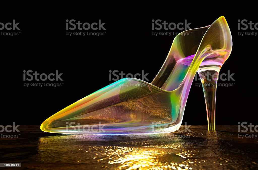 Glass Shoes. stock photo