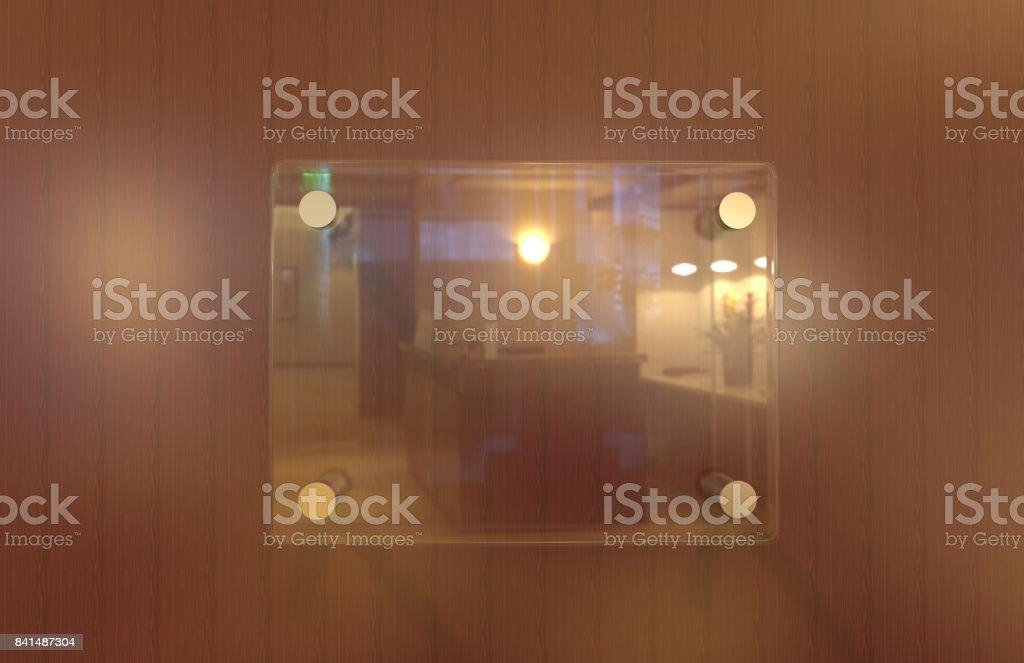 Glass Signage stock photo