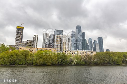 istock Glass skyscraper of Moscow-City business district, Russia 1317321534