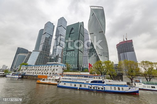istock Glass skyscraper of Moscow-City business district, Russia 1317322079