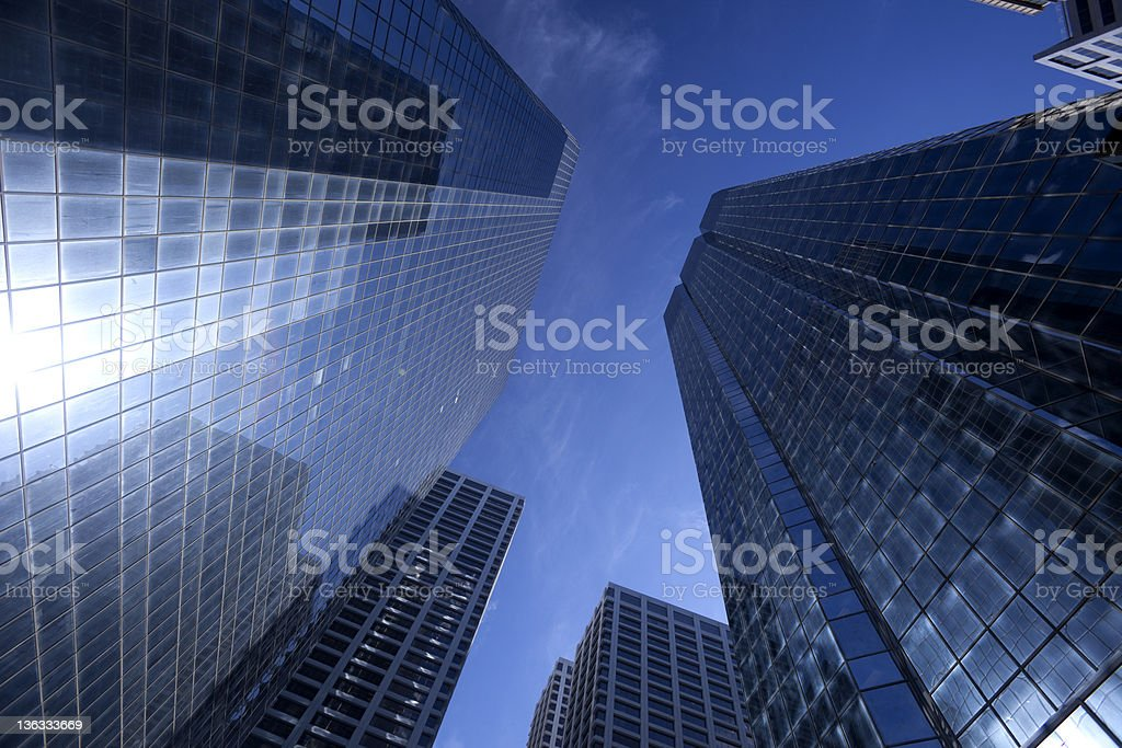 Glass Skyscrapers royalty-free stock photo