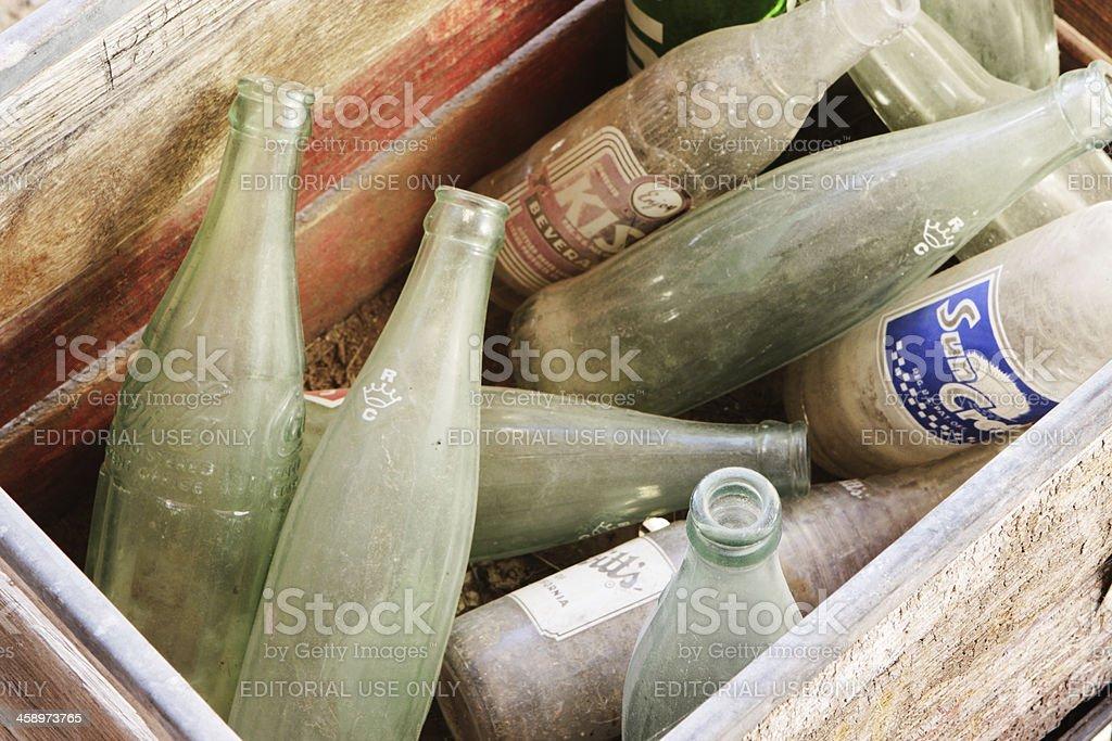 Glass Soda Bottles Vintage Beverages stock photo