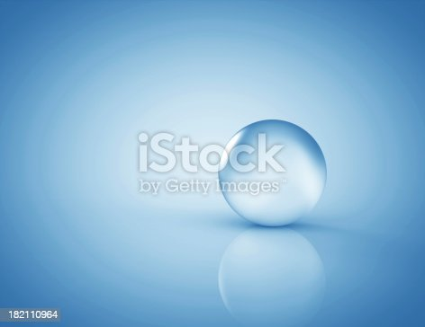 istock Glass sphere blue 182110964
