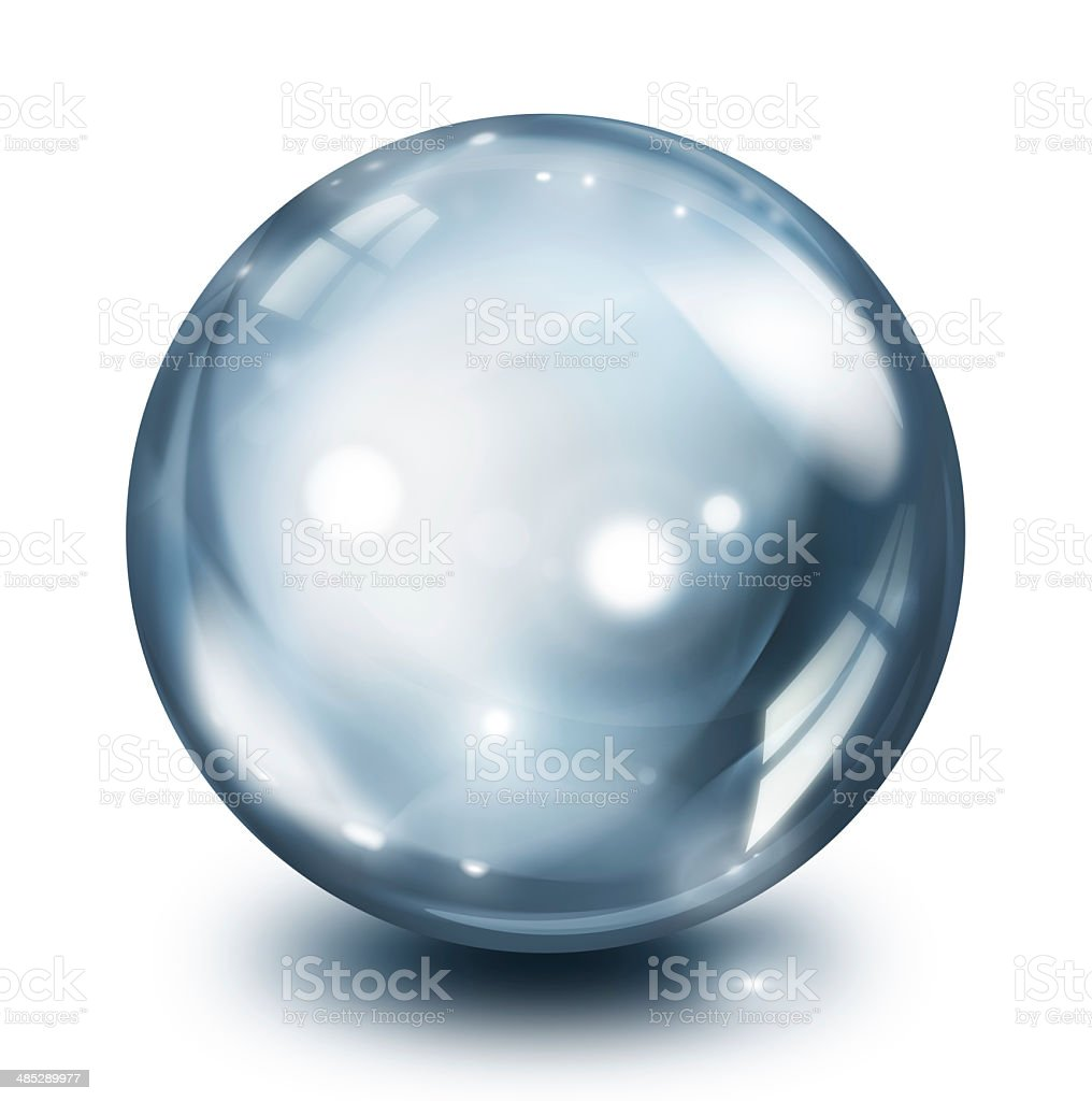 glass sphere pearl stock photo