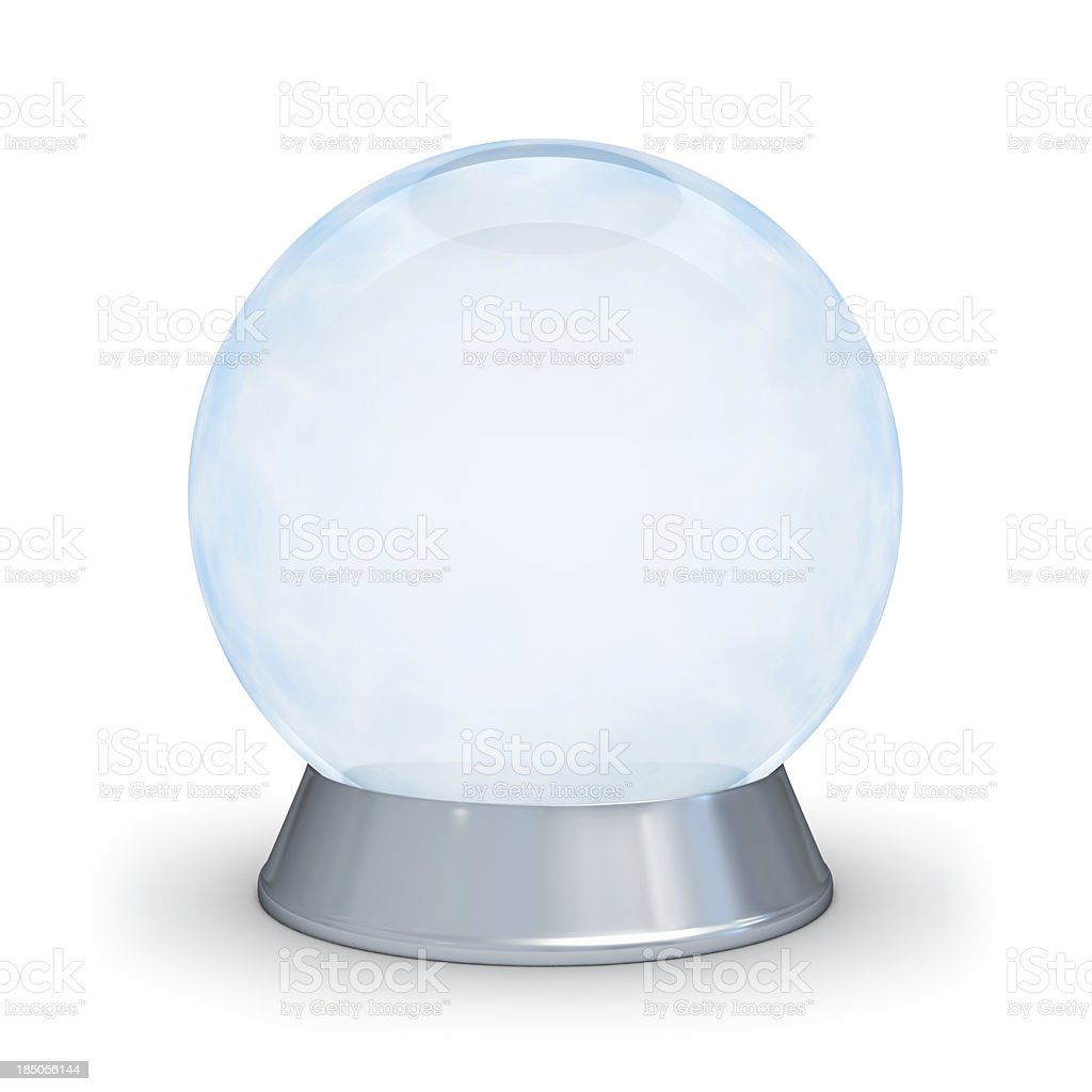 Glass sphere. stock photo
