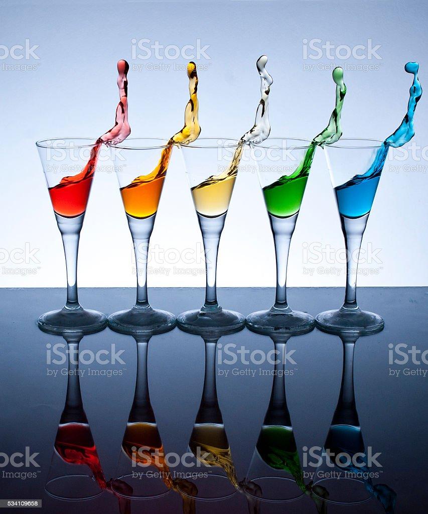 Glass Splash stock photo