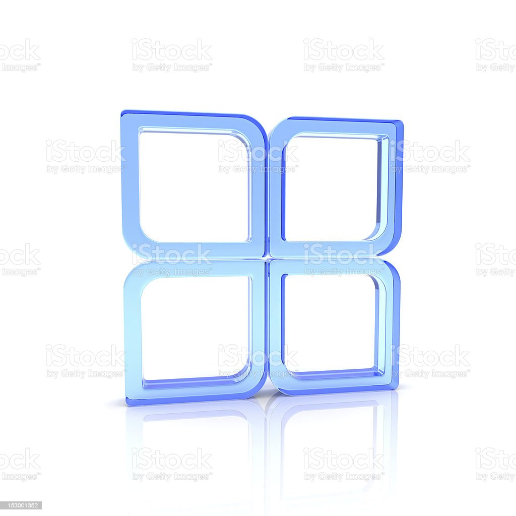 Glass squares royalty-free stock photo