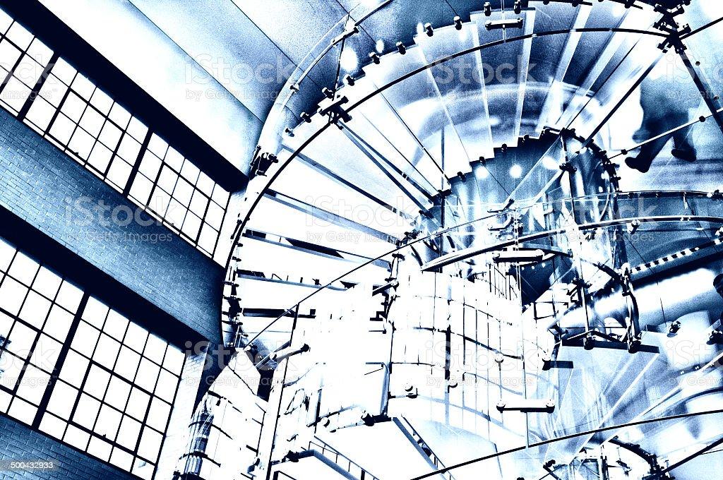 Glas Staircase.Blue Farbtönen – Foto