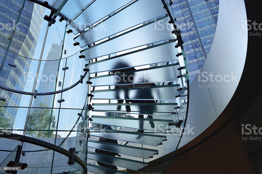 Glass Staircase stock photo