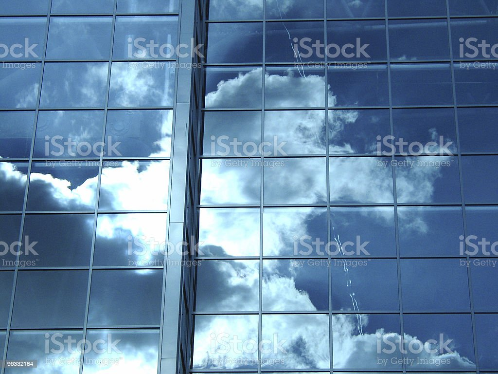 Glass, Steel and Sky royalty-free stock photo