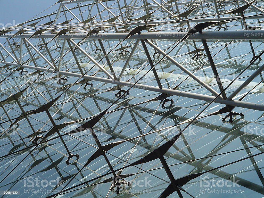glass structure stock photo