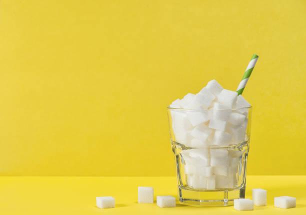 유리 설탕 큐브 무게 제어 다이어트 건강 해독 제 - 설탕 뉴스 사진 이미지