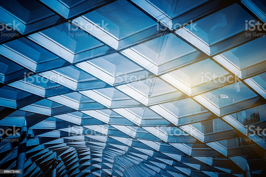 glass sunshade structure stock photo