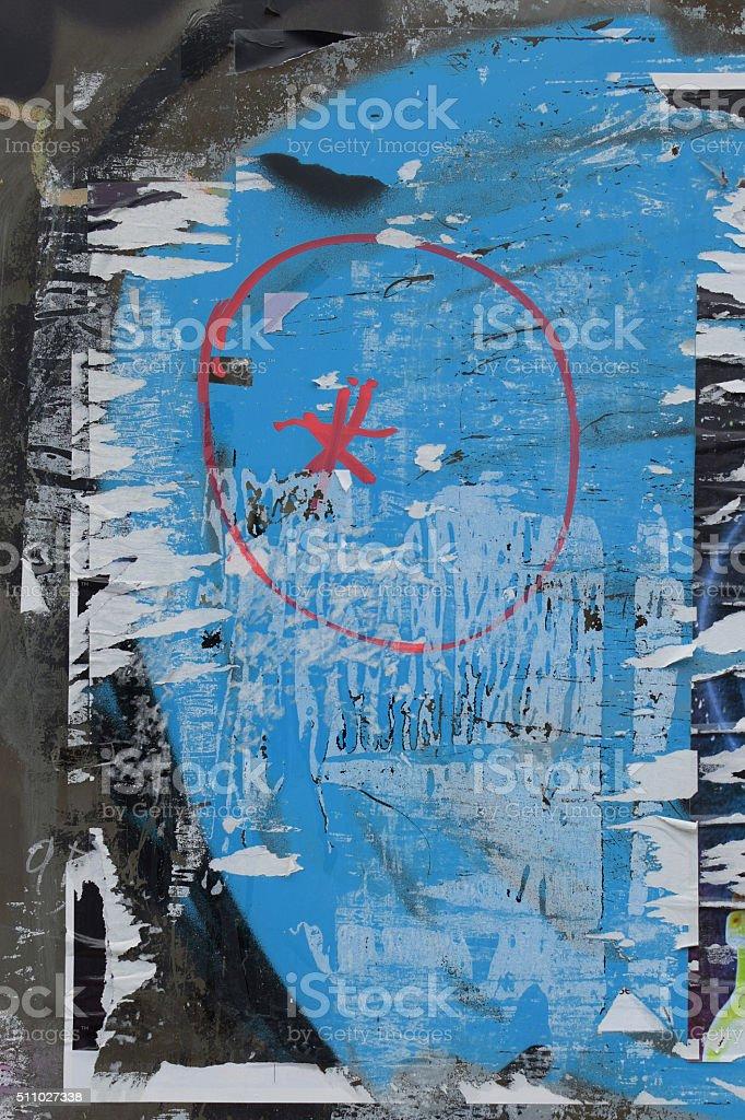 Superficie di Vetro rotto poster - foto stock