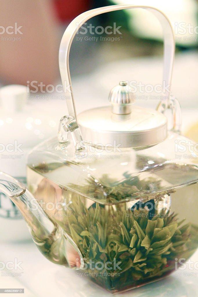 Glass Tea Pot stock photo