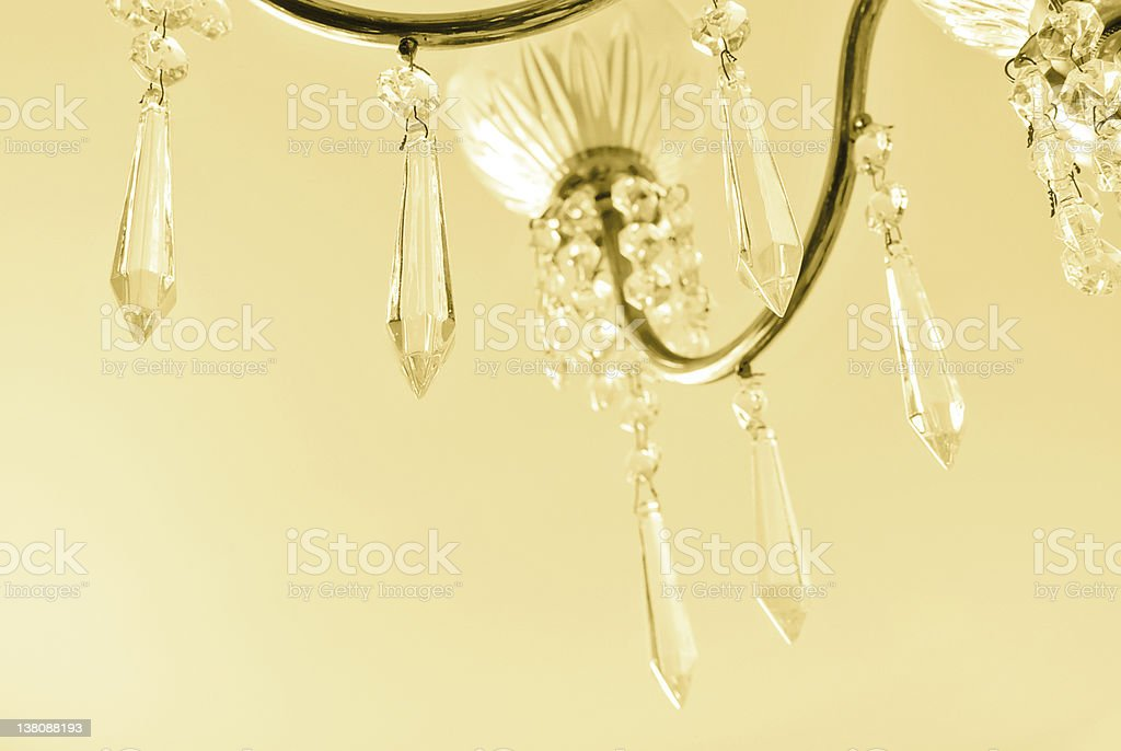 Glass tears | Toned yellow stock photo