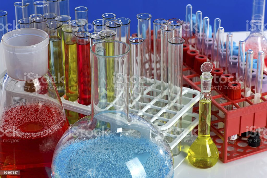 Glas-test tubes Lizenzfreies stock-foto