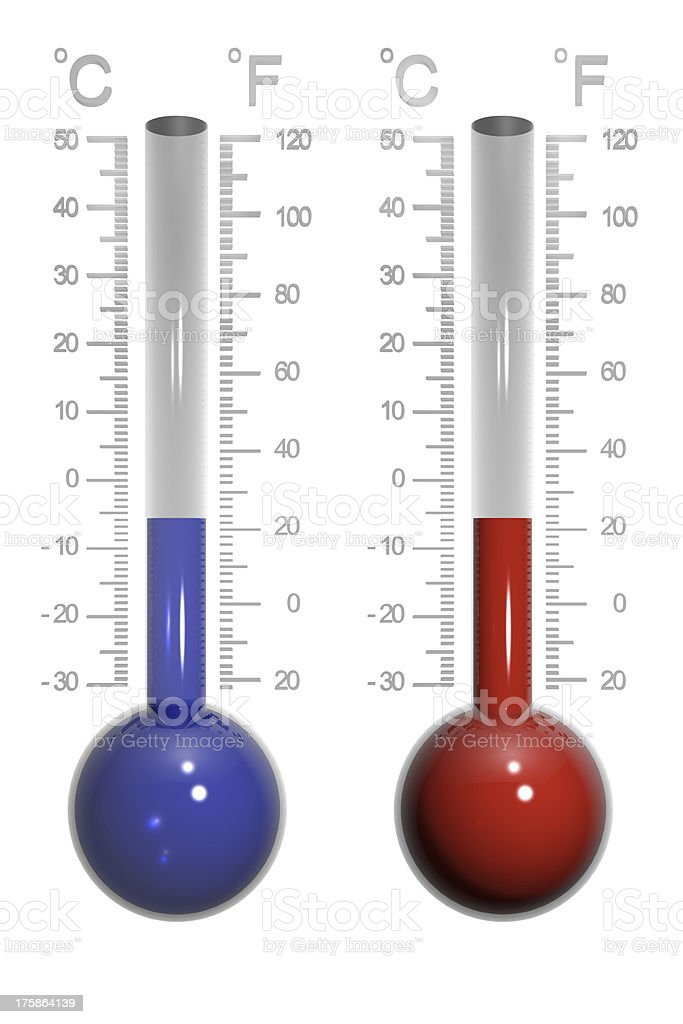 Glass thermometer stock photo