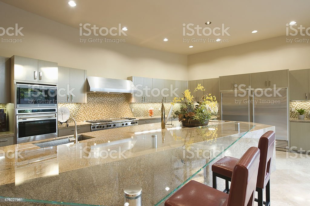 Glass Topped Breakfast Table stock photo