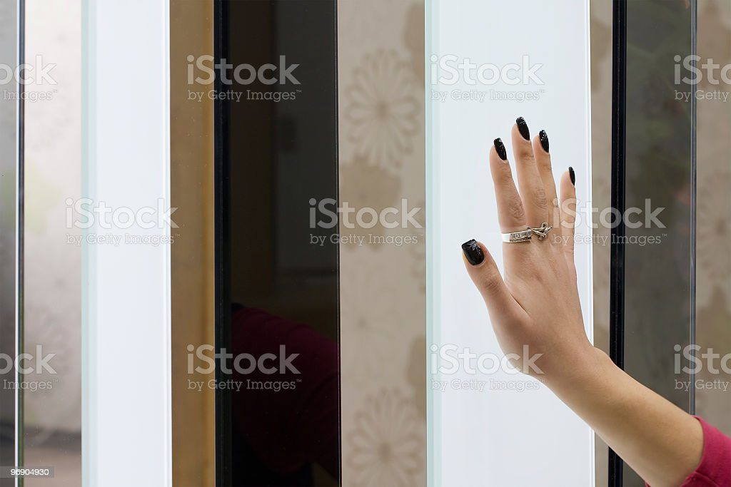 Glass touch royalty-free stock photo