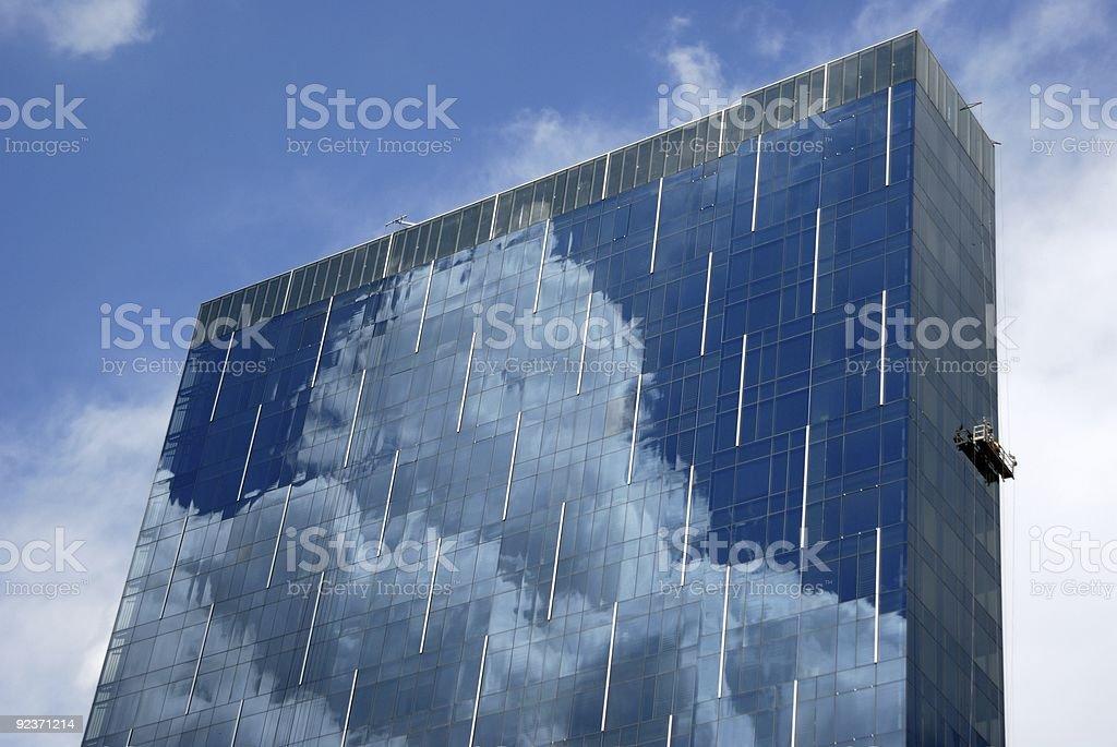Glass Tower Wolken Lizenzfreies stock-foto