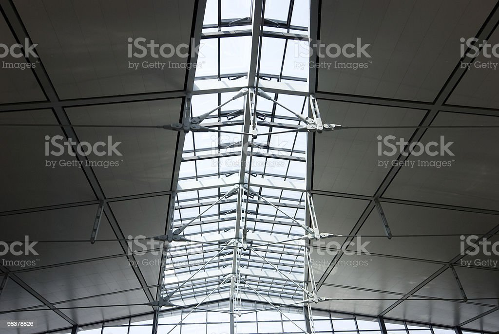 glass transom light and steel framework royalty-free stock photo