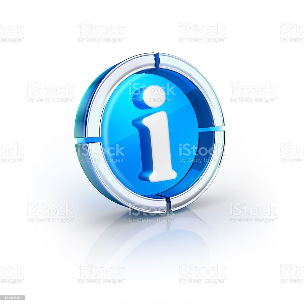 glass transparent icon of info Symbol royalty-free stock photo