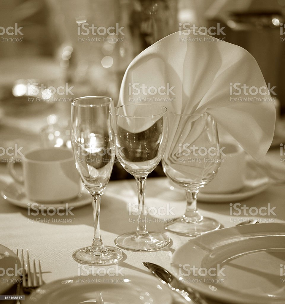 glass trio royalty-free stock photo