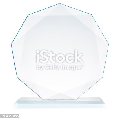 istock Glass trophy 504650855