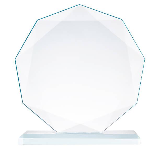 Glass trophy stock photo