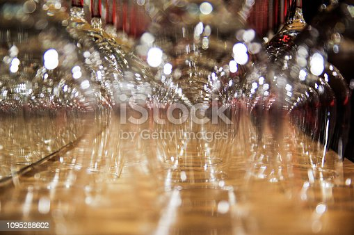 Glasses in an abstract  row