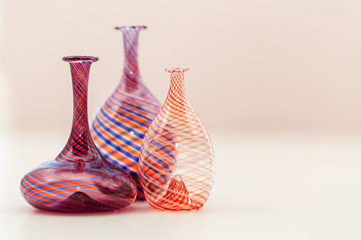 Glass vase - composition with glass vases