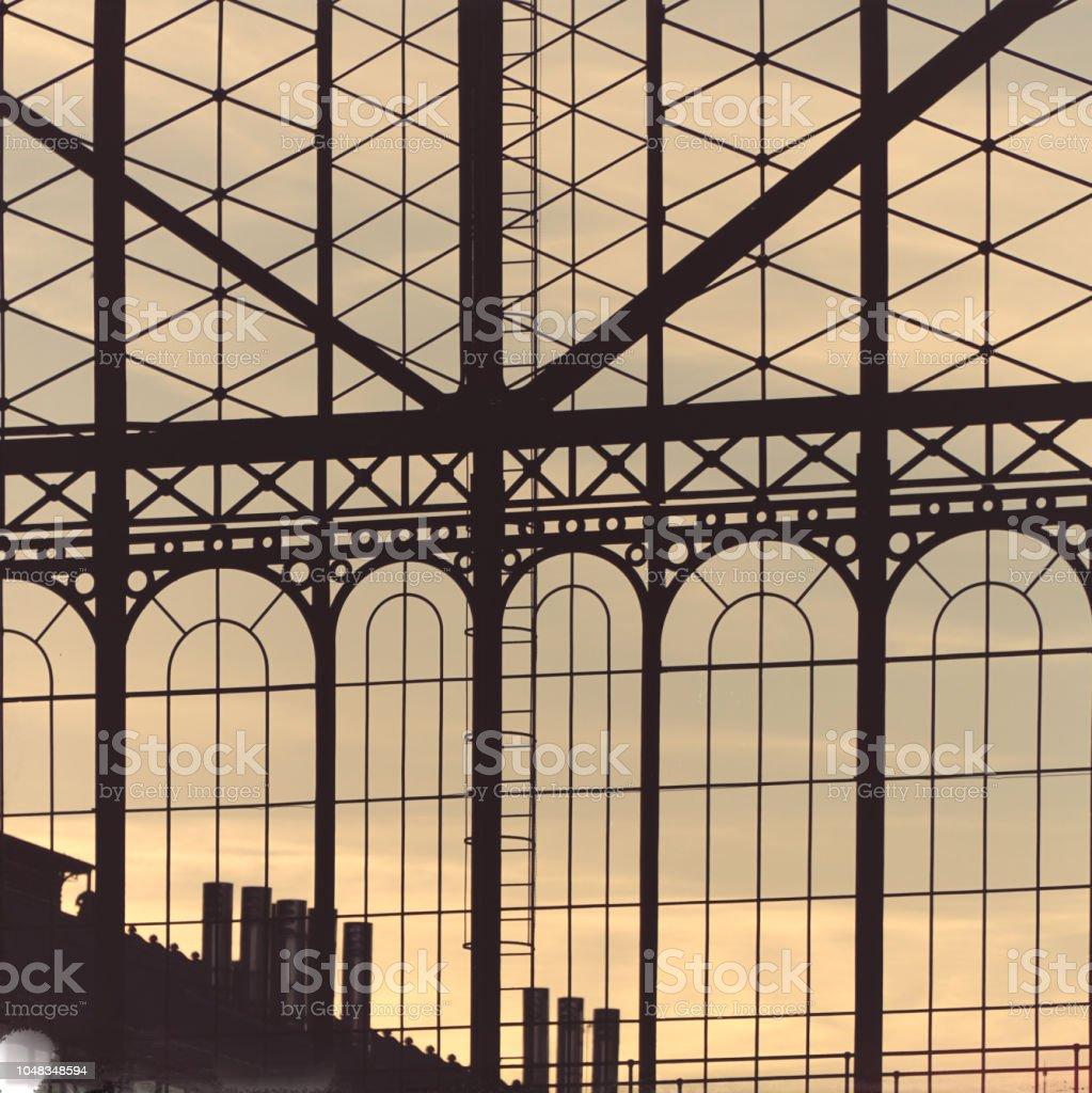 Cristalera Vista Desde El Exterior De La Estacion De Principe Pio