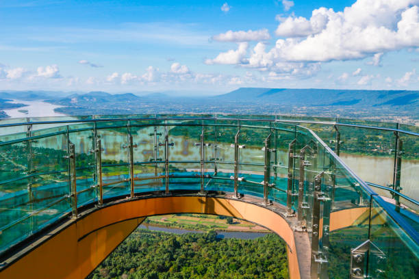 glass walk and mekong river view