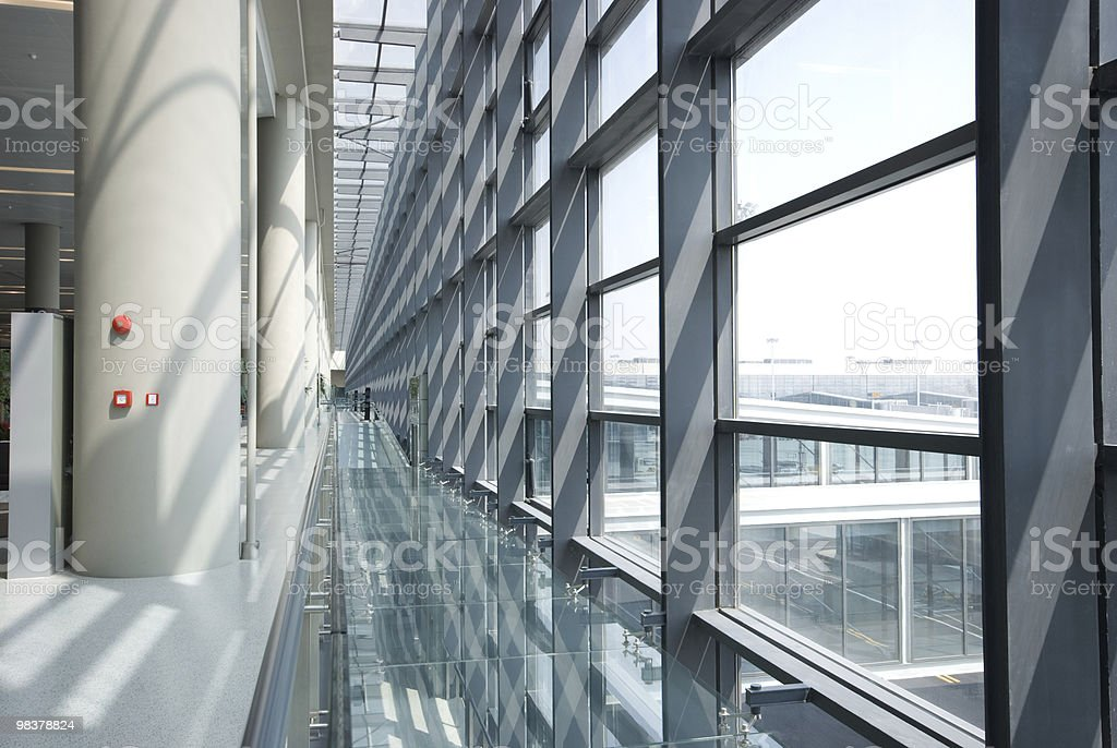 glass wall and steel framework royalty-free stock photo