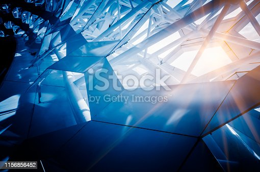 light shine through geometric glass wall,shot in  baoan international airport,shenzhen,china.
