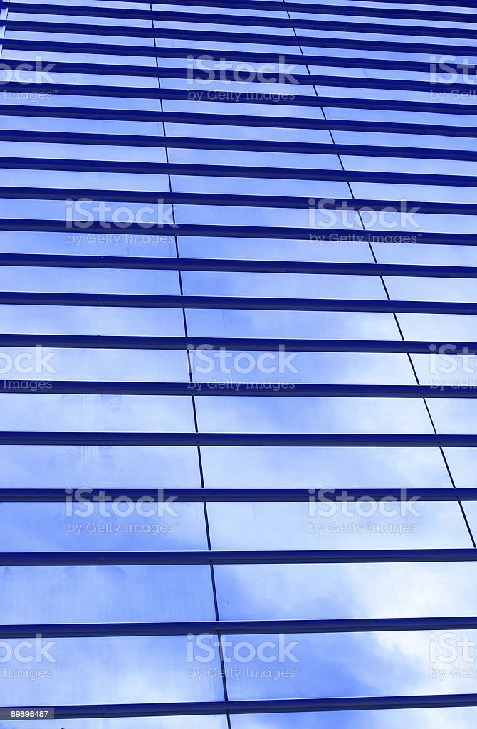 Glass wall of business center royalty-free stock photo