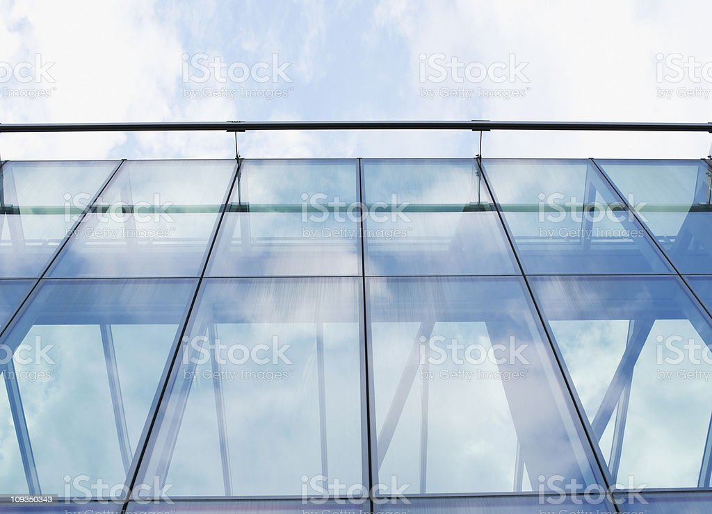 Glass walls of modern office building royalty-free stock photo