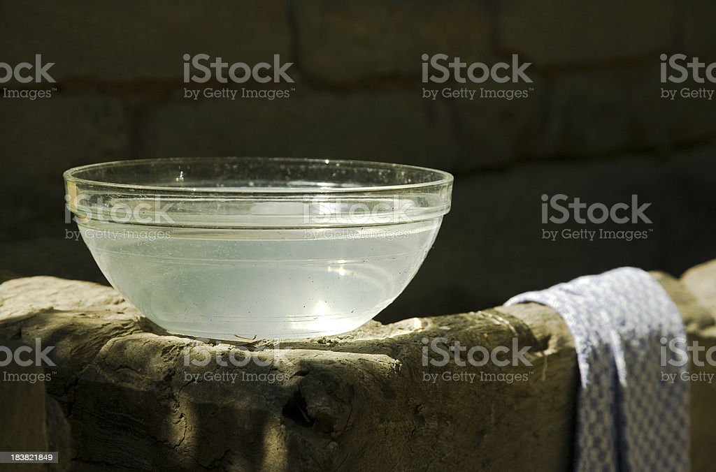 glass wash basin stock photo