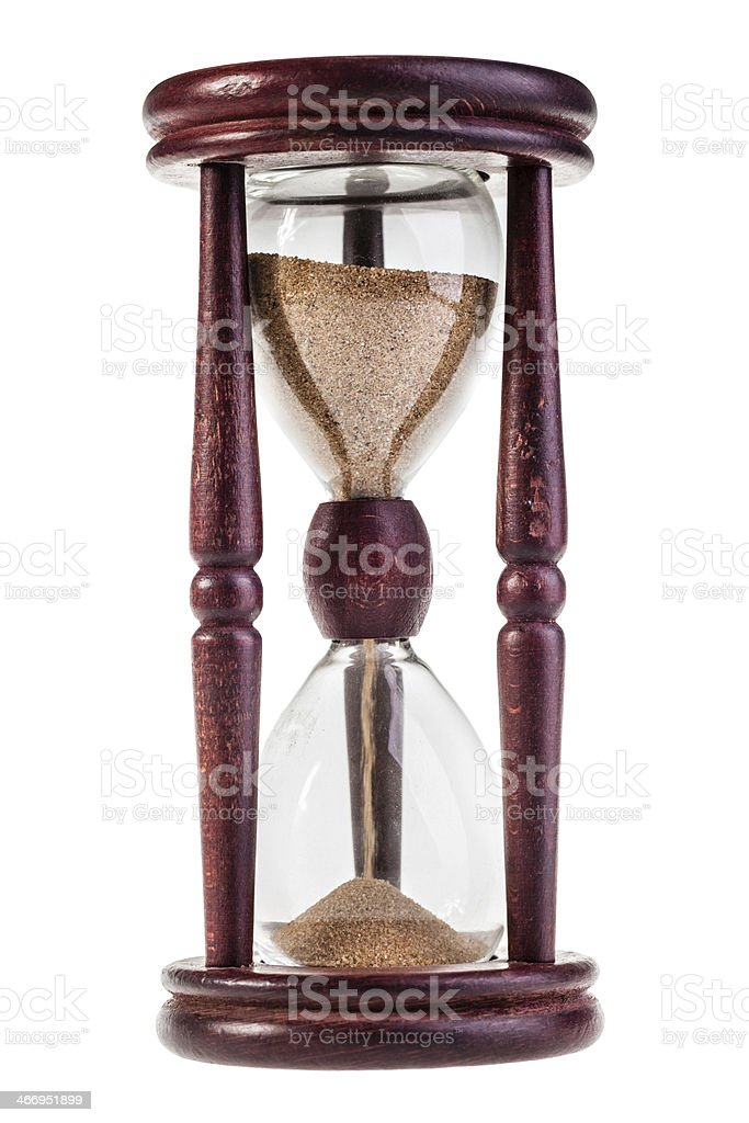 Glass watch stock photo