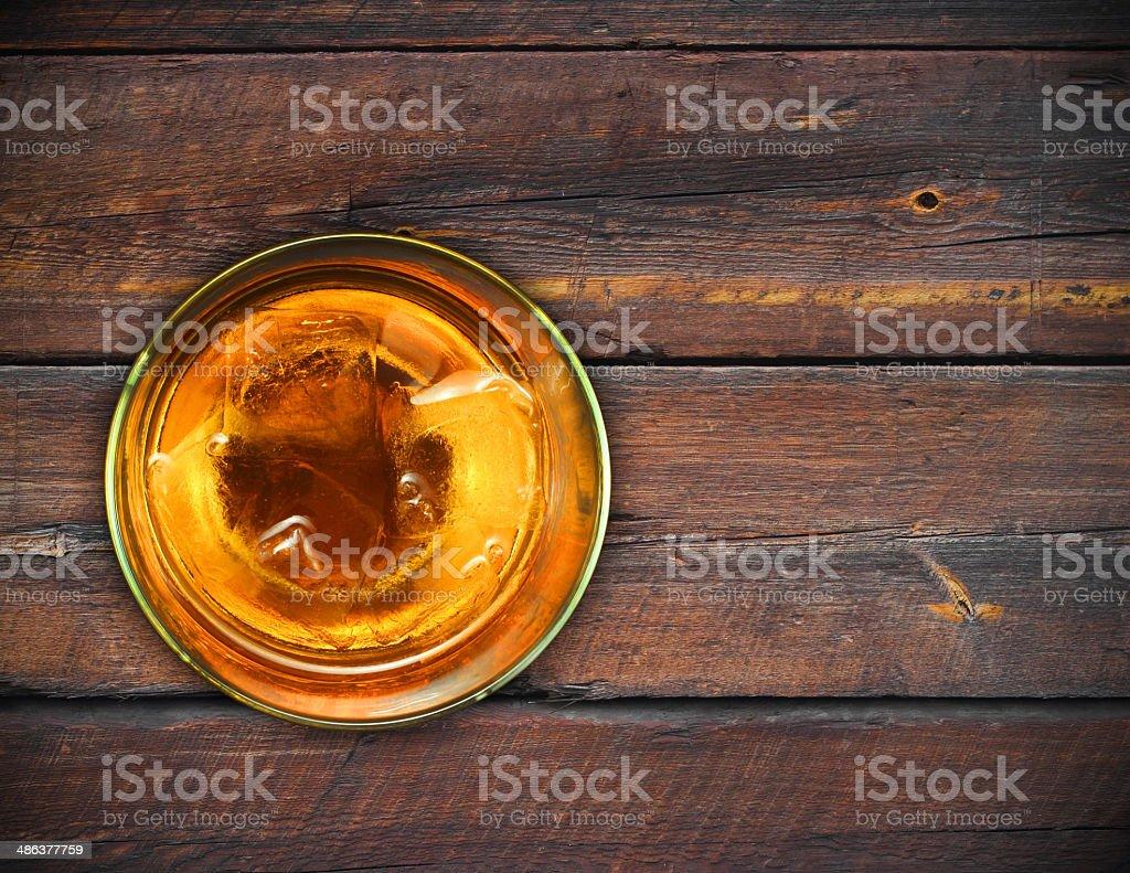 glass whiskey vintage wooden background stock photo