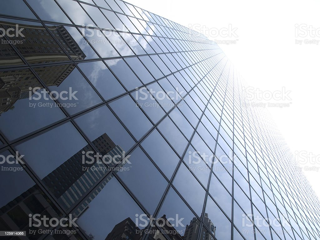 Glass window panels of a New York skyscraper royalty-free stock photo