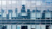 istock Glass windows from an office building 938382354