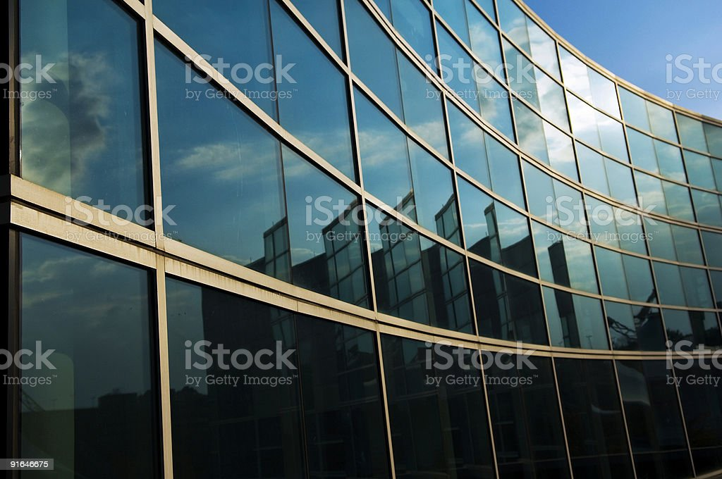 Glass Windows of a Architecture Building Design royalty-free stock photo